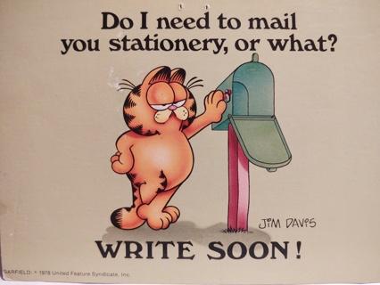 8 Vintage Garfield Postcards