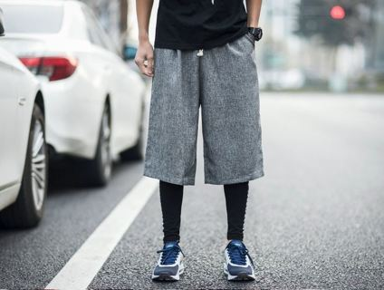 MEN'S Casual Shorts Loose Knitted Elastic Waist FREE SHIPPING