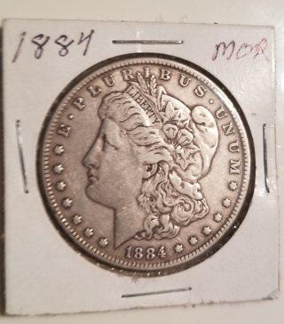 1884 U.S. Morgan Dollar - 90% Silver