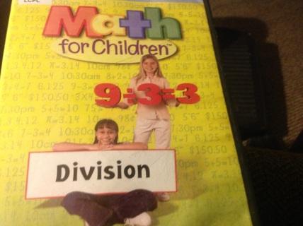 DVD- MATH FOR CHILDREN - DIVISION