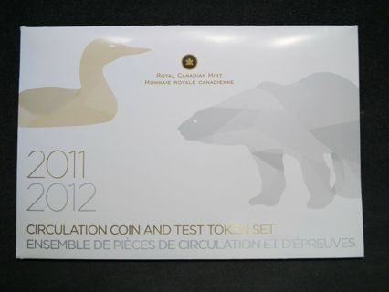 2011 2012 Canada Circulation Coin and Test Token Set  Mintage only 25,000