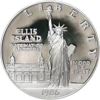 1986 S Statue Of Liberty Centennial Proof Commem 90% Silver Dollar US Coin