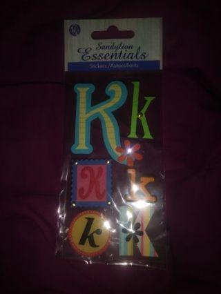 Letter K Scrapbook Stickers