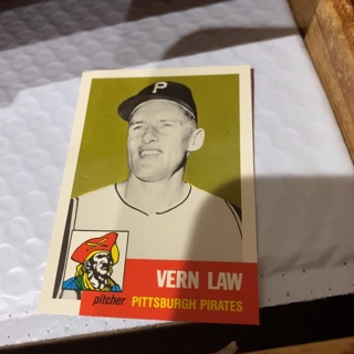 1953 topps archives Vern law baseball card