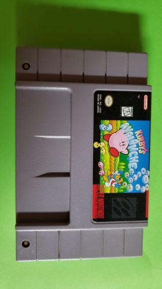 "Super Nintendo Game ""Kirby's Avalanche """