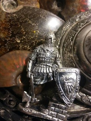 Solid .999 PURE Silver Knight RARE ELITE COLLECTOR PIECE OF ART 4 Oz