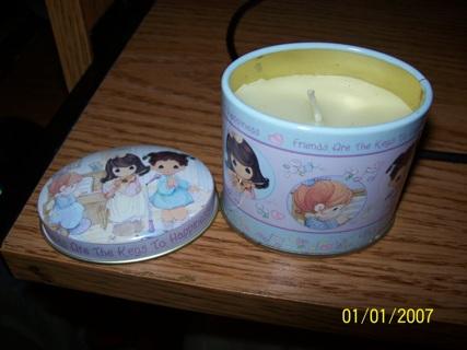 Precious Moments Tin Candle