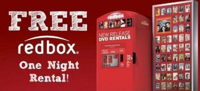 One Free Redbox DVD Rental Exp: 11/30/2019