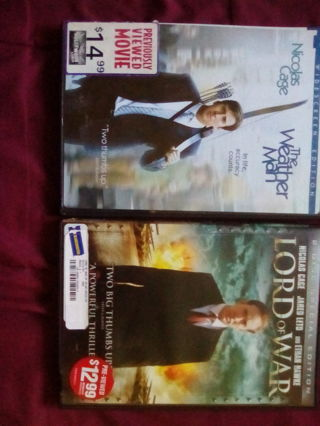 LOT OF 2 DVDS