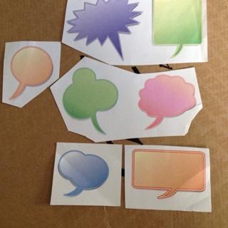 7 paper quote bubbles