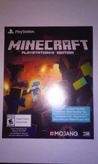 Free MINECRAFT FOR PS VITA FULL GAME VOUCHER CODE LOW GIN - Minecraft spiele fur ps vita