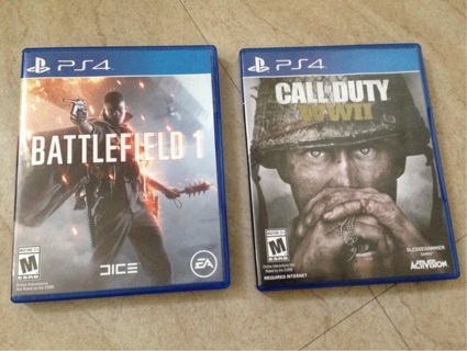 Call of Duty WW2 and Battlefield 1 for PS4