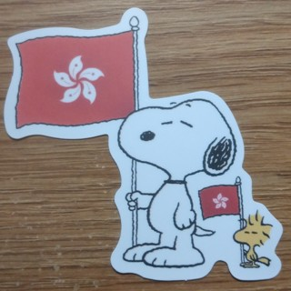 SNOOPY And WOODSTOCK Bird Flags Peanuts Gang Beagle Dog New Sticker Decal - Free Shipping