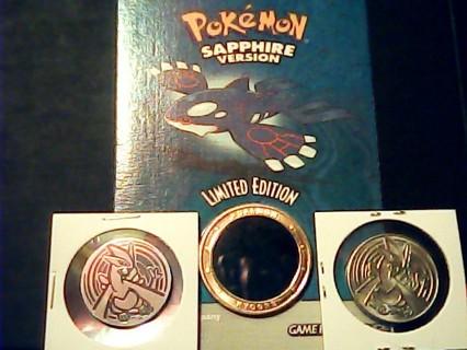 Pokemon(C ALL) Rare Promo Coin Kyogre,Lugia Coins,6-Energy Coins Pikachu Movie Coin/Pendant+More