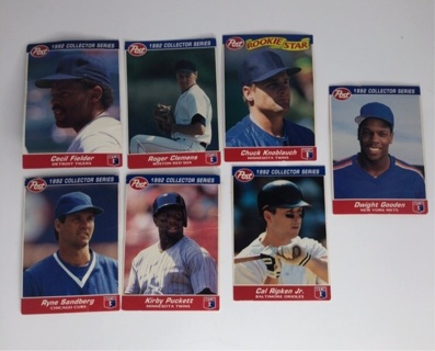 Baseball cards post cereal 1992 collectors series lot