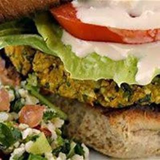 Un-fried falafel burger recipe