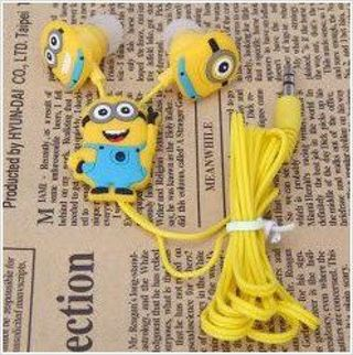 Despicable Me The Minion Style 3.5mm In-ear Headphone for Various Mobile Phones
