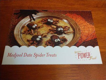 Medjool Dates Spider Treats Recipe.