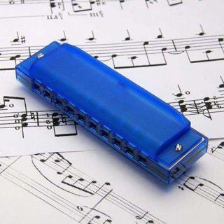 [GIN FOR FREE SHIPPING] 10 Holes Diatonic Blues Harp Harmonica Key of C Translucent