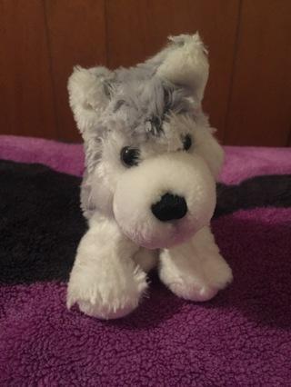 Lil' Kinz Husky Stuffed Animal Grey Soft Toy Pet