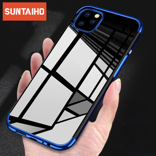 Electroplated Bumper Case For iPhone 11 Pro Max Cases Clear Silicone Soft TPU Shockproof Cover For