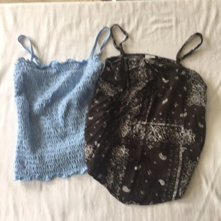 2 Girls Size 9/10 Tank Tops By Abercrombie and Fitch