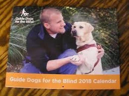 2018 Guide Dogs for the Blind Calendar--free shipping