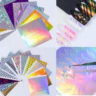 BORN PRETTY Holo Laser 3D Nail Sticker Adhesive Ultra Thin Line Nail Foils Decal