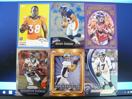 12 Denver Broncos cards w/ Stars & Inserts (Osweiler & Griese RCs, 2 inserts, 2000 Absolute Elway)
