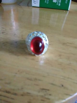 red Unisex ring