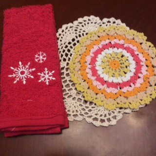 Hand Crochet Two Doilies + Free Gift. #21