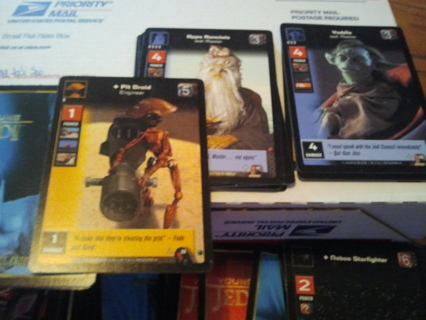 500 young jedi ccg cards mixed
