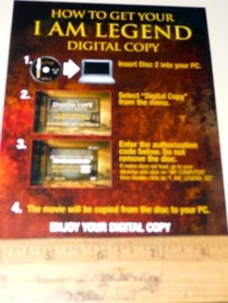 free digital copy of i am legend other dvds movies listia com