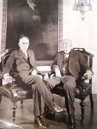 Vintage photo NY Central Railroad chairman and president