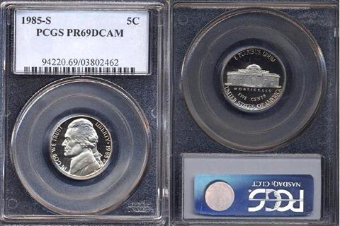 1985-S Jefferson Nickel PCGS PR69DCAM