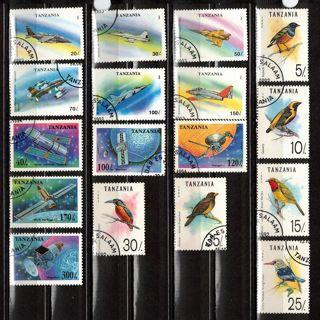 Tanzania Stamps w Birds, Planes, Space