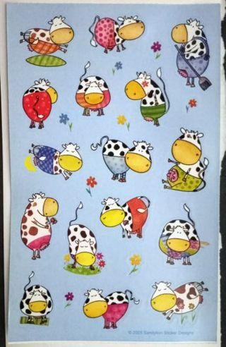 Sandylion Kawaii Cows Stickers