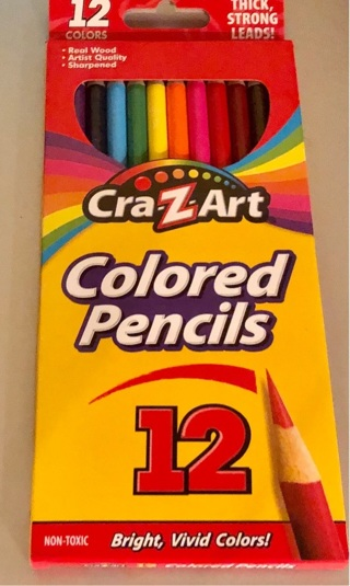 Brand New: Cra-Z-Art 12 Color Pencils! Strong Leads For Illustration/Spcl Effects/School/Crafts