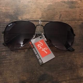 Black Rayban Aviator sunglasses