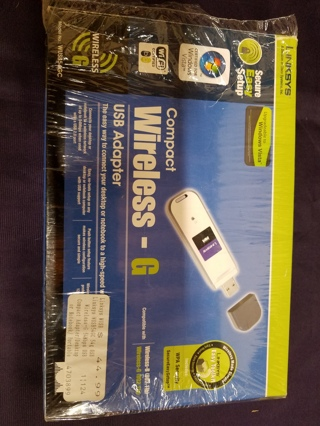 Linksys Compact Wireless-G USB Adapter 2.4 GHz 802.11g WUSB54GC Cisco Systems w/Free Shipping