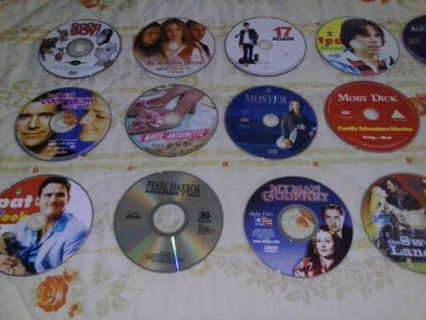 Lot of 18 DVD`s disc only!