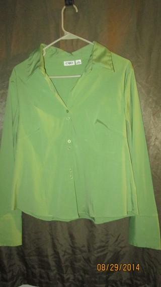 Free ladies lime green button down shirt awesome size l for Awesome button down shirts