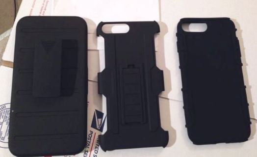 NEW iPhone 7 PLUS Hybrid Case Shock Proof Absorbent Grip Stand Holster