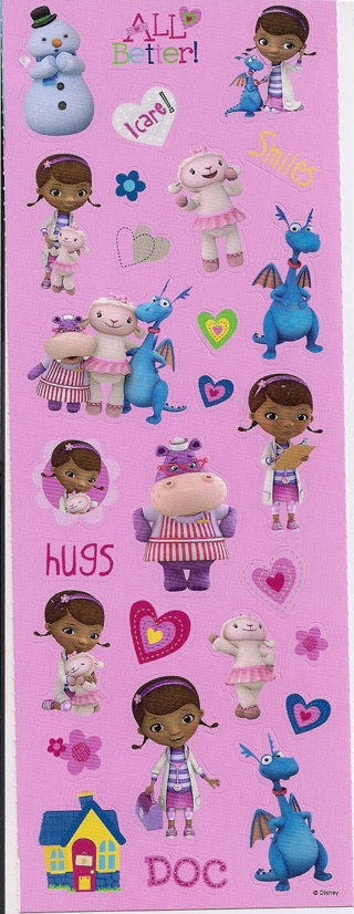 Brand New Sheet Of Doc McStuffins Stickers