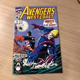avengers west coast #69  marvel  1991
