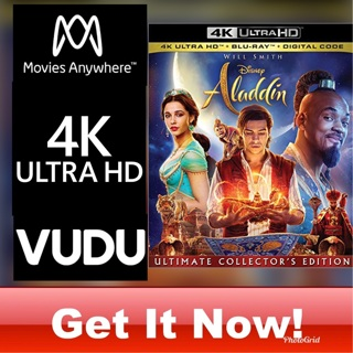 ALADDIN LIVE ACTION 4K MOVIES ANYWHERE OR VUDU CODE ONLY