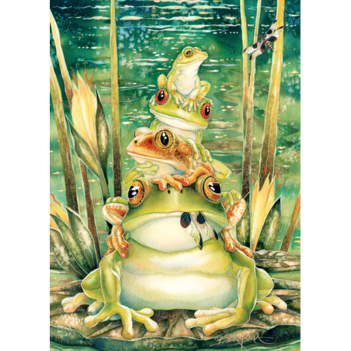 free frogs frog pile cross stitch needlepoint needlework pattern graph needlecraft. Black Bedroom Furniture Sets. Home Design Ideas