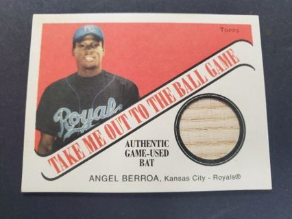 2004 Cracker Jack Angel Berroa Authentic Game-Used Bat