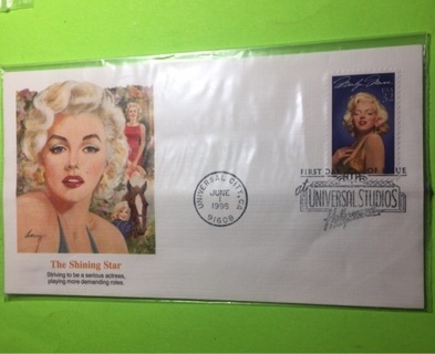 First day of issue Marilyn Monroe 1995 stamp & envelope!