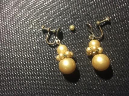 Beautiful Vintage Earrings Needs Repair & Cleaning